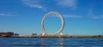 """世界最大无轴式摩天轮""""渤海之眼""""5月16日投用 - 半岛网"""