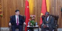 11月16日,国家主席习近平在莫尔兹比港会见巴布亚新几内亚总督达达埃。新华社记者 鞠鹏 摄 - 中国山东网